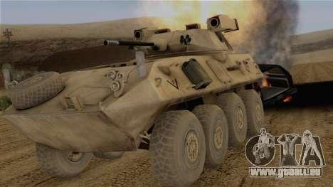 LAV-25 Desert Camo pour GTA San Andreas vue arrière