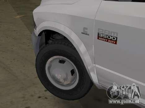 Dodge Ram 3500 Laramie 2012 pour GTA Vice City sur la vue arrière gauche