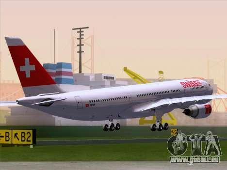 Airbus A330-223 Swiss International Airlines für GTA San Andreas zurück linke Ansicht
