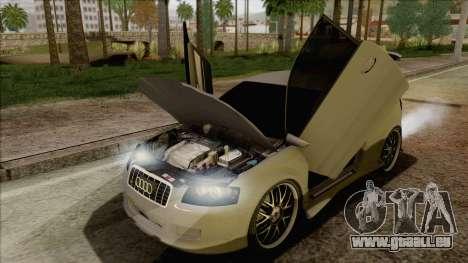 Audi S3 pour GTA San Andreas vue de côté