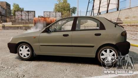 Daewoo Lanos S PL 2001 pour GTA 4 est une gauche