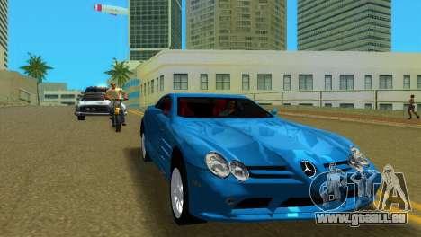 Mercedes-Benz SLR McLaren pour une vue GTA Vice City de la gauche