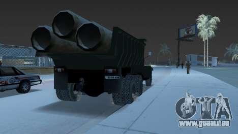 Camion à benne basculante KrAZ 255 pour GTA Vice City sur la vue arrière gauche
