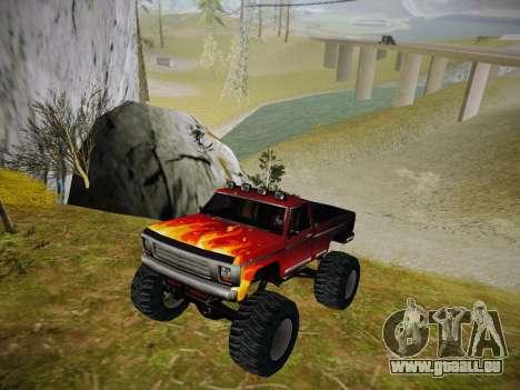 Neue Texturen für Monster (A) für GTA San Andreas linke Ansicht