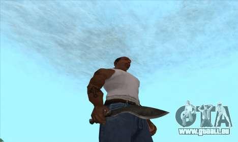 Kukri couteau-machette pour GTA San Andreas deuxième écran