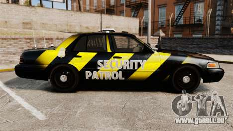 Ford Crown Victoria 2008 Security Patrol [ELS] für GTA 4 linke Ansicht