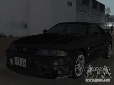 Nissan SKyline GT-R BNR33 pour GTA Vice City roue