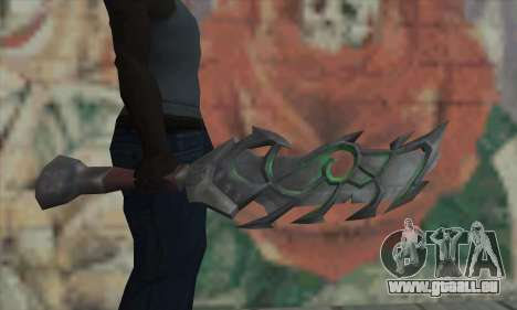 Das Schwert von World of Warcraft für GTA San Andreas dritten Screenshot