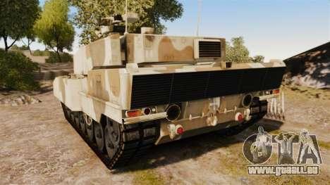 Leopard 2A7 pour GTA 4 Vue arrière de la gauche