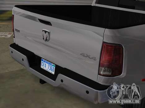 Dodge Ram 3500 Laramie 2012 pour GTA Vice City vue arrière