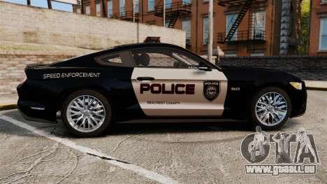 Ford Mustang GT 2015 Police pour GTA 4 est une gauche