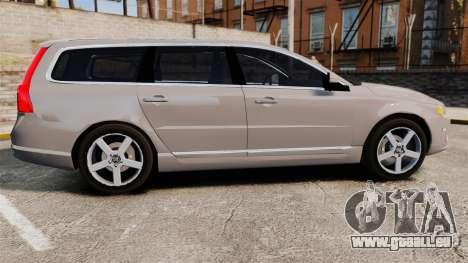 Volvo V70 Unmarked Police [ELS] für GTA 4 linke Ansicht