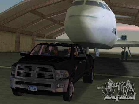 Dodge Ram 3500 Laramie 2012 pour GTA Vice City vue de dessous