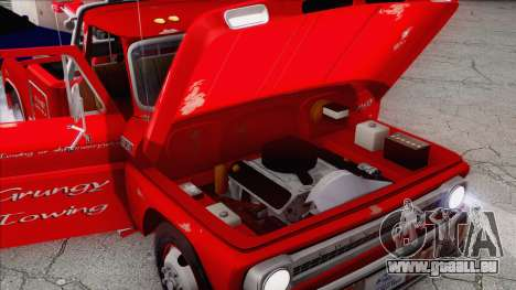 Chevrolet C20 Towtruck 1966 1.01 für GTA San Andreas obere Ansicht