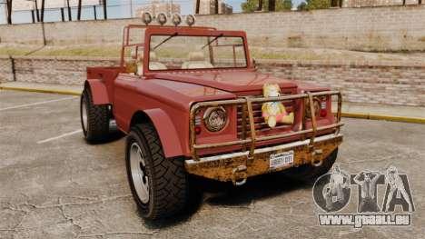 GTA V Canis Bodhi (Trevor Car) pour GTA 4