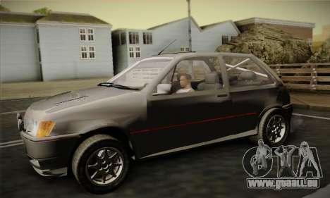Ford Fiesta Mk3 XR2i für GTA San Andreas rechten Ansicht