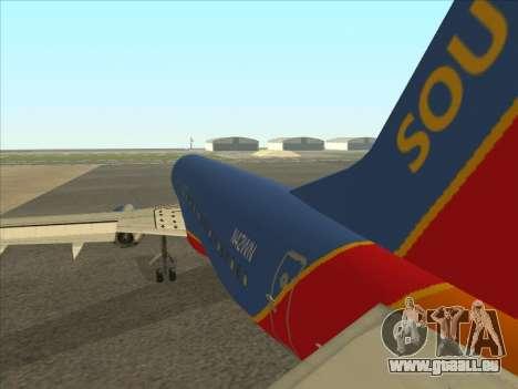 Boeing 737 Southwest Airlines für GTA San Andreas rechten Ansicht