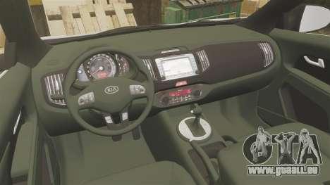 Kia Sportage Metropolitan Police [ELS] für GTA 4 Rückansicht