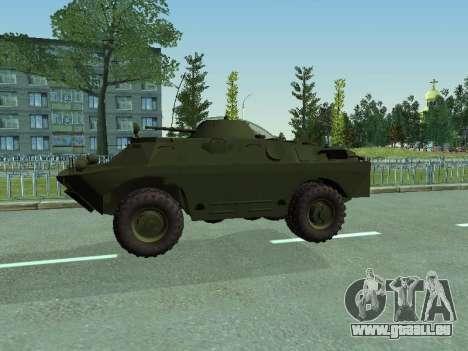 BRDM 2 pour GTA San Andreas vue intérieure