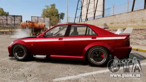Sultan RS Sedan pour GTA 4 est une gauche