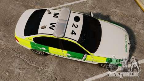 BMW 330i Ambulance [ELS] für GTA 4 rechte Ansicht