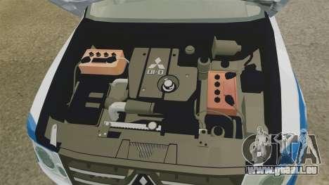 Mitsubishi Pajero Finnish Police [ELS] pour GTA 4 Vue arrière