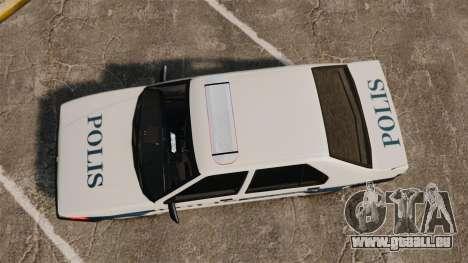 Renault 19 Turkish Police für GTA 4 rechte Ansicht