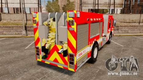 Division on Fire Columbus Firetruck [ELS] für GTA 4 hinten links Ansicht