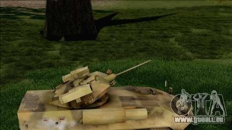 Camouflage forêt LAV-25 pour GTA San Andreas sur la vue arrière gauche