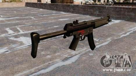 Pistolet mitrailleur HK MR5A3 pour GTA 4 secondes d'écran