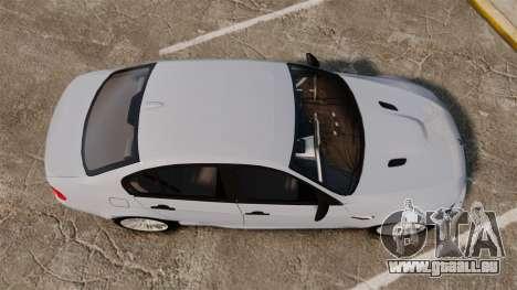 BMW M3 Unmarked Police [ELS] für GTA 4 rechte Ansicht