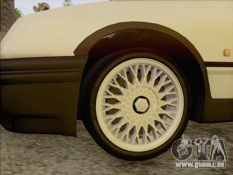 Ford Sierra Mk1 Coupe GHIA für GTA San Andreas zurück linke Ansicht