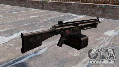 Mitrailleuse polyvalente Heckler et Koch HK21 pour GTA 4 secondes d'écran