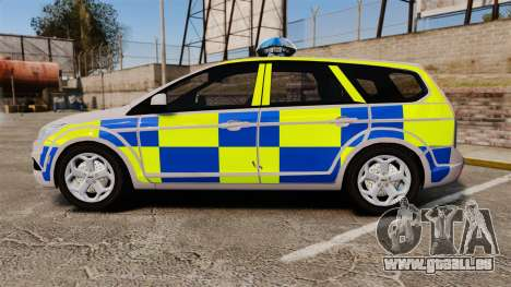 Ford Focus Estate 2009 Police England [ELS] für GTA 4 linke Ansicht