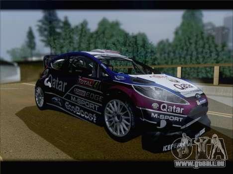 Ford Fiesta RS WRC 2013 pour GTA San Andreas laissé vue