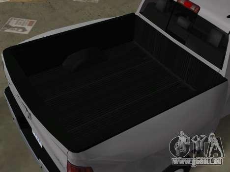 Dodge Ram 3500 Laramie 2012 pour une vue GTA Vice City de l'intérieur