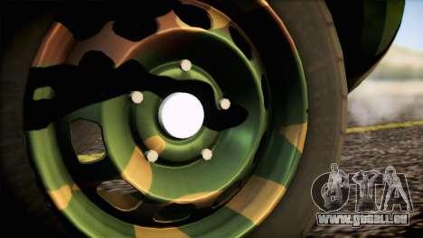 Dacia Duster Army Skin 2 für GTA San Andreas zurück linke Ansicht
