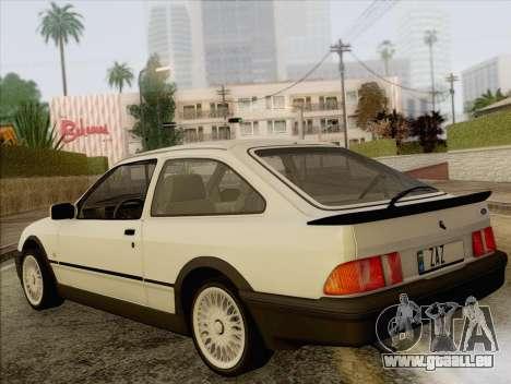 Ford Sierra Mk1 Coupe GHIA für GTA San Andreas linke Ansicht