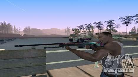 AWP from CS GO Gentleman pour GTA San Andreas troisième écran