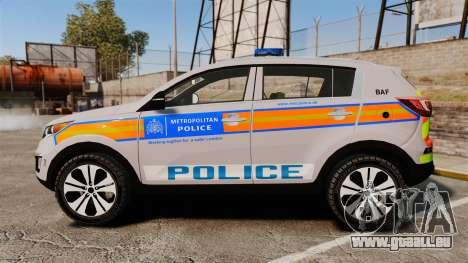 Kia Sportage Metropolitan Police [ELS] für GTA 4 linke Ansicht