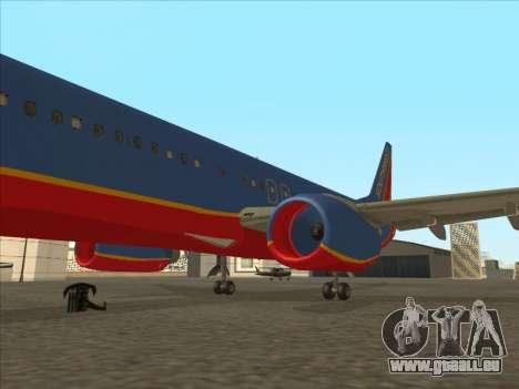 Boeing 737 Southwest Airlines für GTA San Andreas Innen