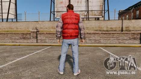 Vêtements-dos à l'avenir- pour GTA 4 secondes d'écran