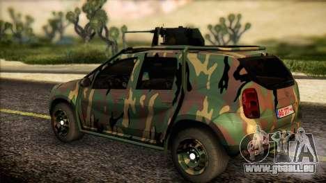 Dacia Duster Army Skin 2 für GTA San Andreas linke Ansicht