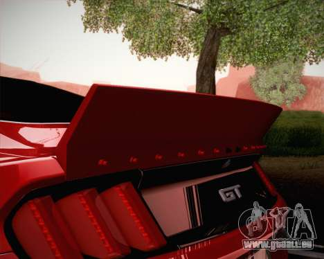 Ford Mustang Rocket Bunny 2015 pour GTA San Andreas vue de dessous