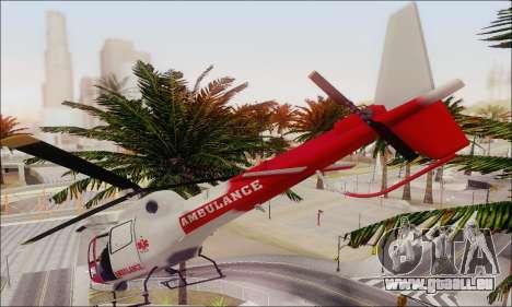 GTA V Ambulacia Maverick pour GTA San Andreas vue intérieure