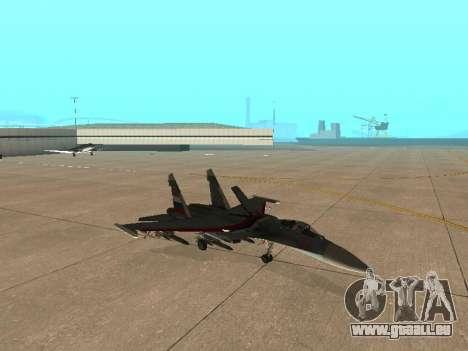 Su 33 pour GTA San Andreas vue intérieure