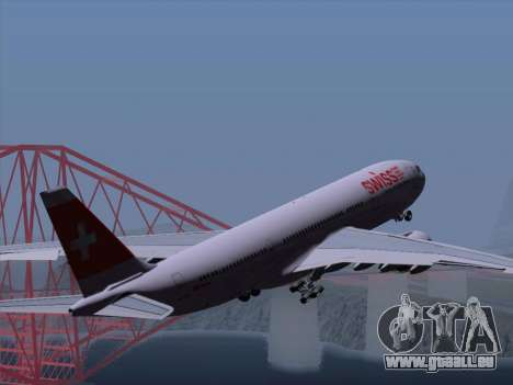 Airbus A330-223 Swiss International Airlines pour GTA San Andreas roue