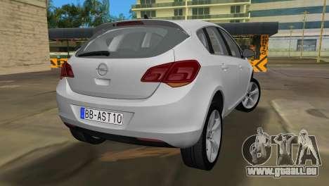 Opel Astra 2011 pour GTA Vice City sur la vue arrière gauche