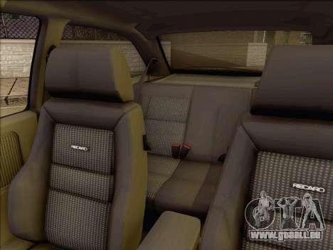 Ford Sierra Mk1 Coupe GHIA für GTA San Andreas Rückansicht