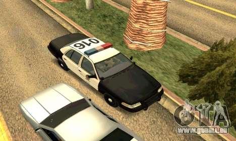 Ford Crown Victoria Police LV pour GTA San Andreas vue de côté